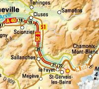 Chamonix avec relief