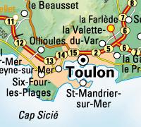 Toulon avec relief