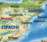 Espagne vecteurs avec image sat.
