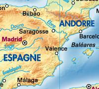 Espagne vecteurs avec relief